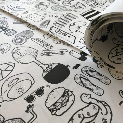 Papier peint ilo
