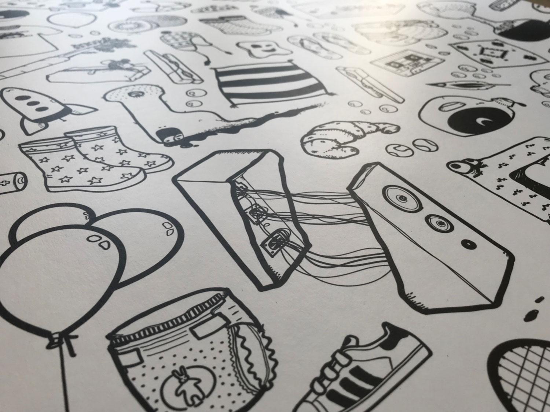 Papier peint ilo Graphisme 4